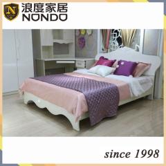 Bedroom set wardrobe furniture panel bed 8509