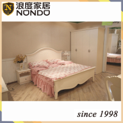 American style bed bedroom furniture wood double bed 8112