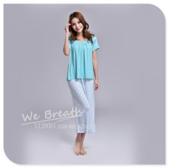 Apparel & Fashion Underwear & Nightwear Sleepwear & Pajamas YUSON 2015 Summer Bamboo Fiber Pajama Capri Set Women