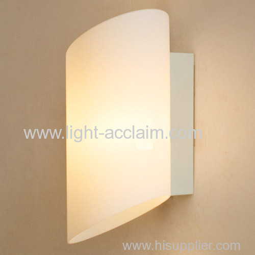 Cylindrical glass wall white lamp bedside lamp and creative glass wall sconce