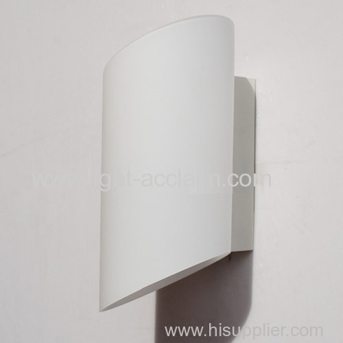 Cylindrical Glass Wall White Lamp Bedside Lamp And