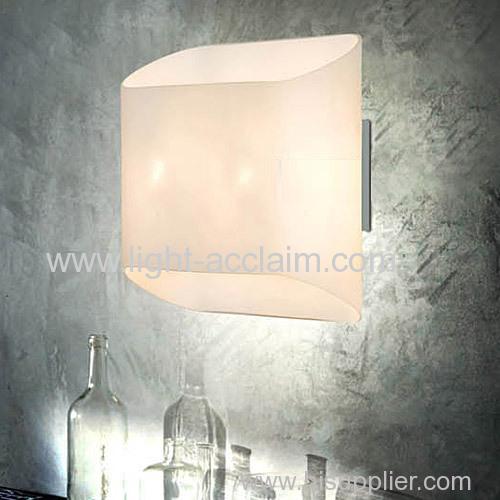 Modern minimalist LED glass wall the glass wall modern wall light fixtures