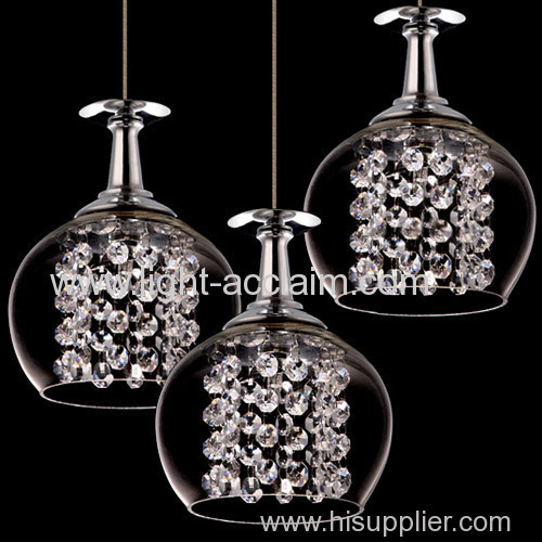 European and American style dining room wine glass chandelier for sale