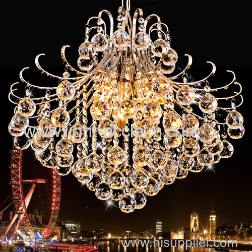 Widely used European luxury living room crystal ceiling chandelier for sale