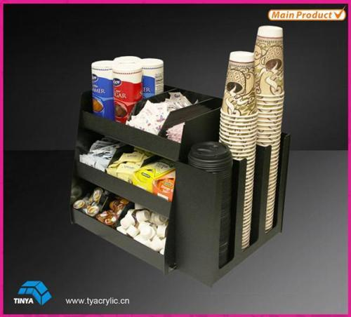 Acrylic Coffee Cup Display Stand Plastic Cup Mug Storage
