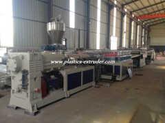 PVC skinning foam board production line