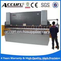 large thick metal plate hydraulic press brake