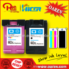 Ink Cartridge for HP662 XL Color Show Ink Level