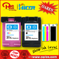 New Version for HP301XL Ink Cartridge Show Ink Level Compatible