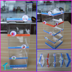 Perpex Plastic Clear Accessory iPhone Charger USB Cable Holder