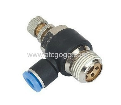 fast connector 8mm 1/8 pneumatic mini air throttle valve fitting 6mm 1/4 for cylinder flow control