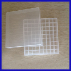 plastic cryogenic storage box with dividers