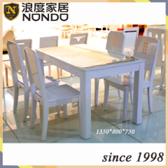 Tempered glass table wood table