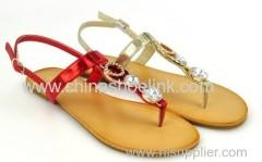 Lady fashion sandals with diamond