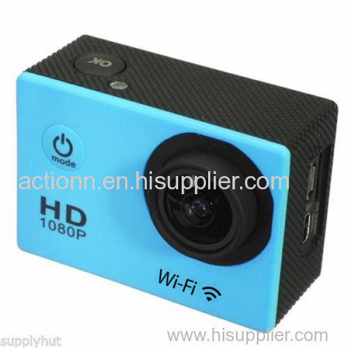 OEM Custom 2'' Touch Screen Full HD Action Camera / Auto Car Camcorder Camera DVR