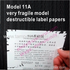 Custom 11A Very Fragile Grade Ultra Destructible Vinyl Materials from China Factory