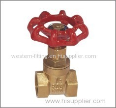 Brass Gate Valve F X F Mechanical Polishing Surface