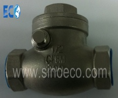 Stainless Steel Female Swing Check Valve with Internal Thread