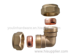 Brass compression fittings for pipe