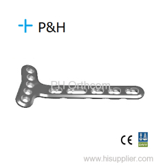 Small T Locking Plate/Placa Bloqueada en forma de T; Trauma Orthopaedic Implant; Medical Plate; Ortopedico