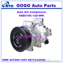 High Quality Auto A/C Compressor for Toyota Corolla 2009-2011 OEM 447260-1495 447260-1496 88310-02500
