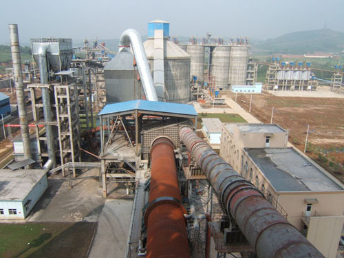 Cement Rotary Kiln Production Line with fire brick