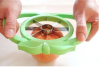 popular high quality stainless steel plastic colorful handle apple shape vegetable cutter