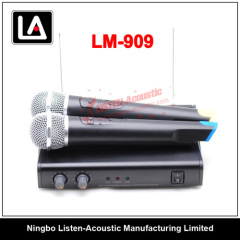 UHF Dual Channel Stereo Wireless Microphone LM 909