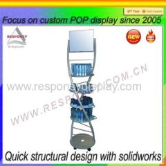 New design commercial place use Cosmetic display stand Revolving stand