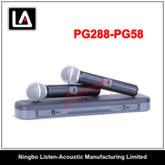 Dual Channel UHF Handheld Wireless Microphone PG288/PG58