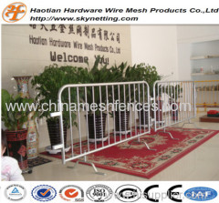 steel crowd control barriers for pedestrian crowd control and law enforcement