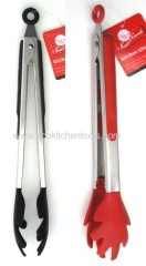 "12"" Silicone Tongs (SS handle)"