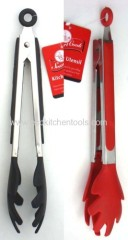 "9"" Silicone Tongs (SS handle)"