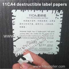 Medium fragile Eggshell Sticker Paper Materials