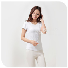 Apparel & Fashion Shirts & Blouses Ladies' short sleeves crew neck fitted base T-shirt Spring Summer