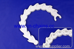 plastic radius Multiflex case conveyor chain 1701