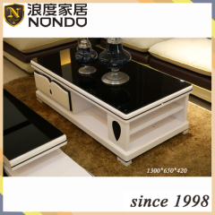 Black tempered glass coffee table designs
