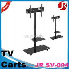 New design multifunctional movable LCD TV cart