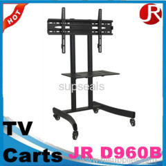 tv carts with wheels hot sale glass tv stand