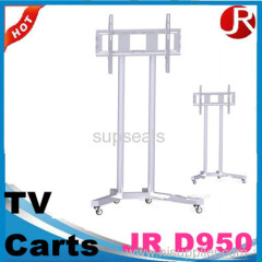 Height adjustable back to back double screen TV