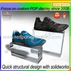 2015 New Design Creative Floor Acrylic Shoe Display Holder