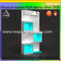 Acrylic floor Shoe Display stand Shoe Display shelf