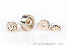 Grade 40Uh Sintered Ndfeb Ring Magnet