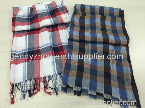 100% cotton scarf for men woven scarf