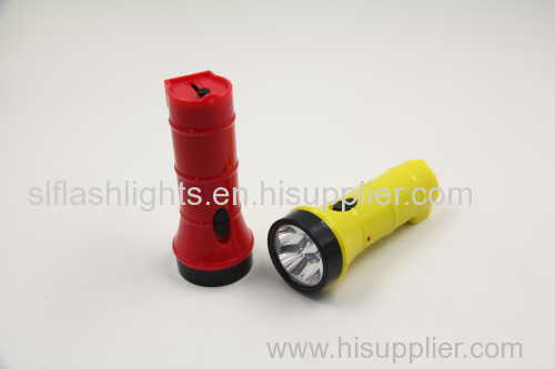 Small rechargeable torch with 4 LED