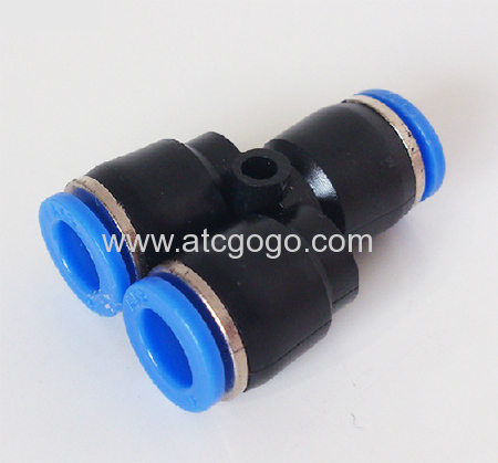3 way hose connector tee pipe fitting lateral y pipe connectors 6mm 8mm gas fittings