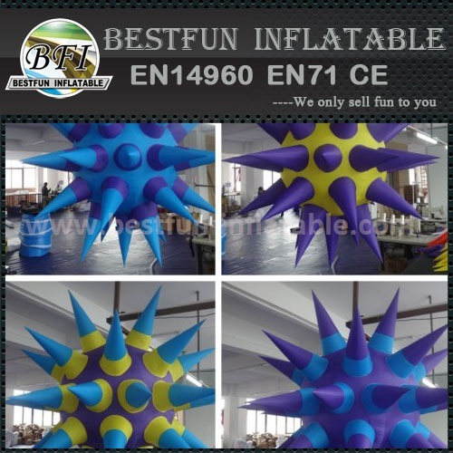Inflatable led shinning star balloon