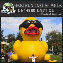 Giant inflatable yellow promotion duck
