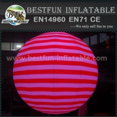 Color change inflatable throwing pvc led balloon