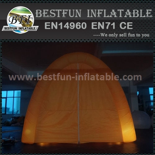 Colorful inflatable tent with led light